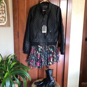 Vegan Leather black Jacket xl